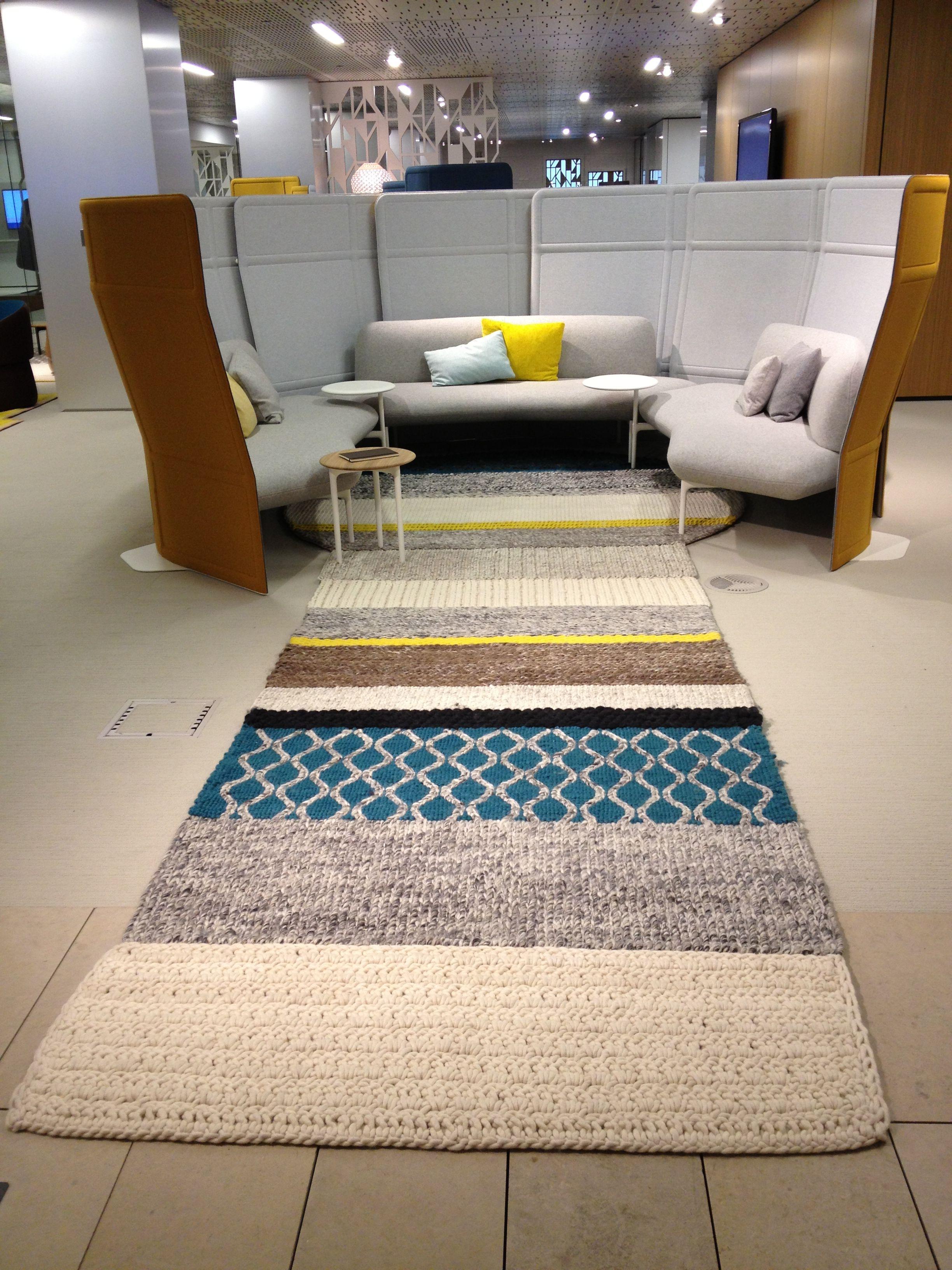 Haworth Showroom Collaborative Lounge by Studio Urquiola Gandia Blasco wool rug