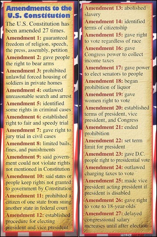 The 27 Amendments Summarized The 1st 10 Are The Bill Of Rights Teaching Government History Education Homeschool Education