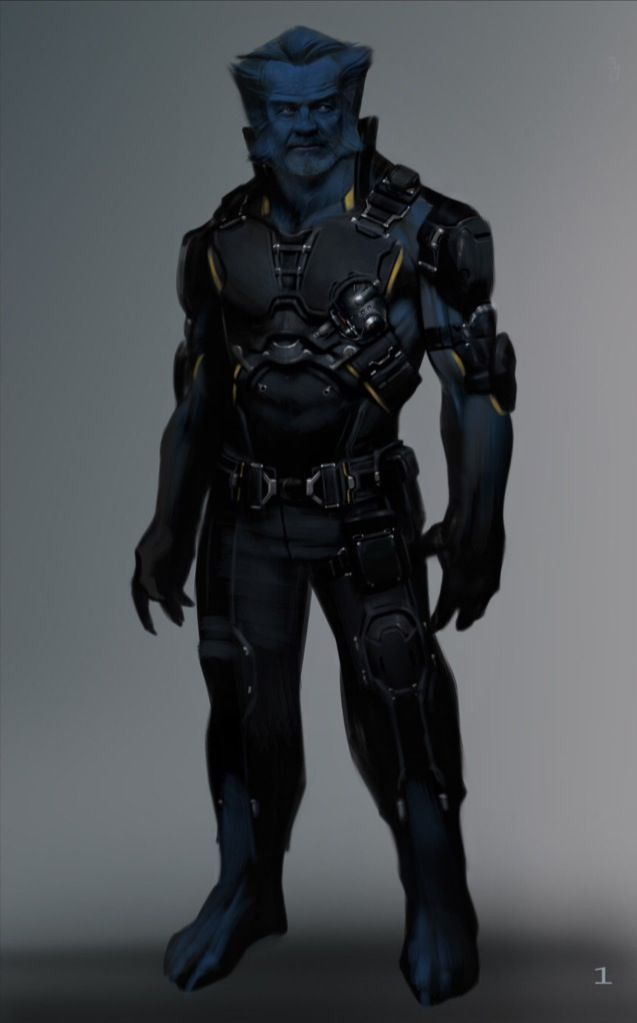 """Concept art of Beast from """"X-Men: Days of Future Past ..."""