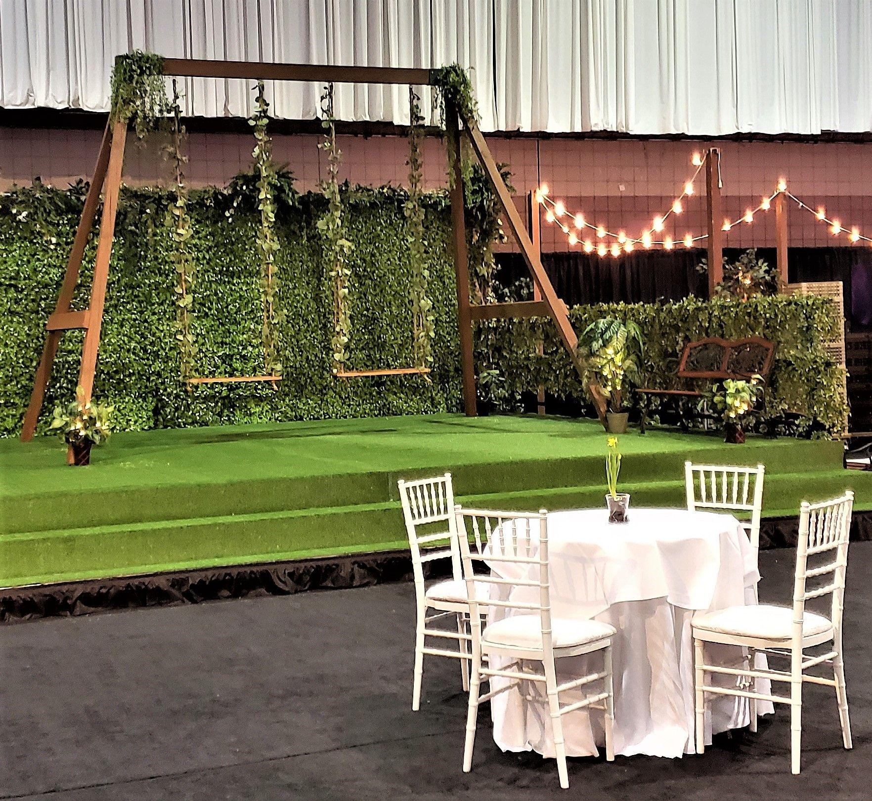 Handmade Swing Set Perfect For An Outdoor Wedding Or Even Inside A Venue Wedding Swing Party Rentals Event Decor