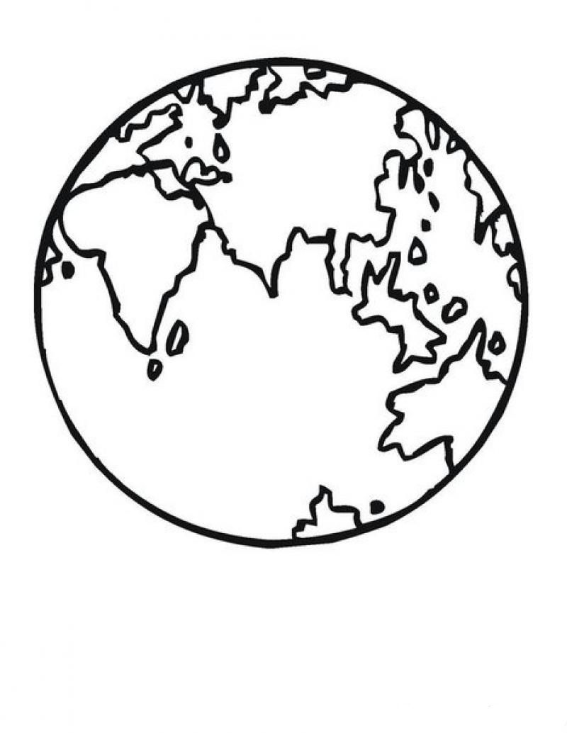 Dünya Dünyaboyama Boyama Sayfasi Dünya
