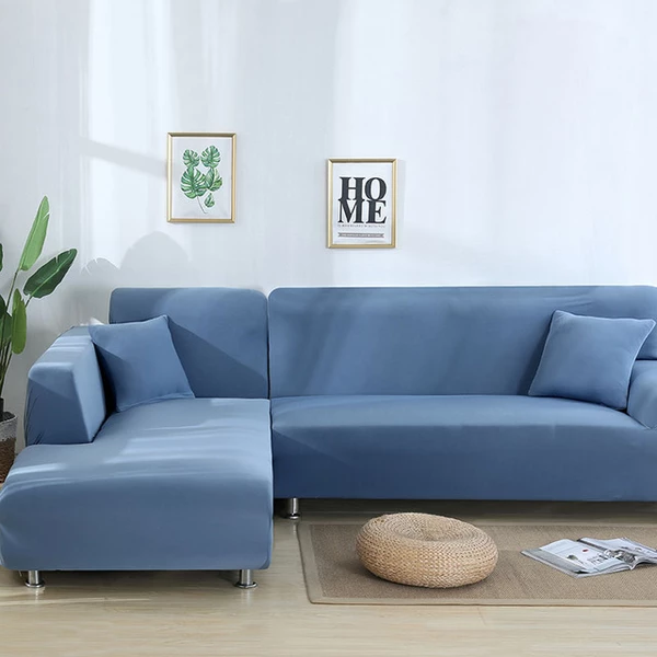 Plain Royal Blue Couch Cover Blue Sectional Sofa Cover Sofa