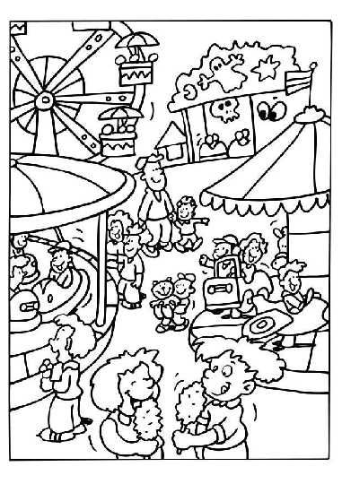 at the fair coloring pages coloring pages for kids