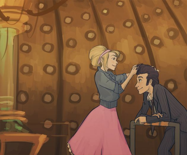 Lisavillella Tenth Doctor Rose Tyler I Always Pictured Her Fixing His Hair For Him Doctor Who 10th Doctor Rose And The Doctor