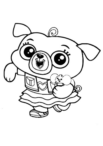Chip And Potato Coloring Pages Black And White Google Search Black And White Google Coloring Pages Hello Kitty