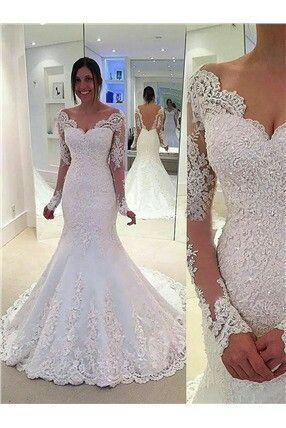 Pin von Kath Ac auf Boda | Pinterest | Hochzeitskleid mit Spitze und ...
