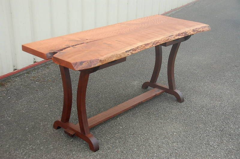 02 Live Edge Cherry Desk With Curved Leg Base 002