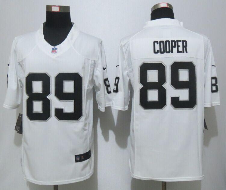 half off f8b34 76959 Oakland Raiders #89 Amari Cooper White Limited Jerseys Men's ...