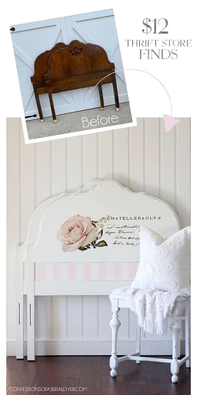 Charming and Chic Farmhouse Thrift Store Makeovers #thriftstoreupcycledecor
