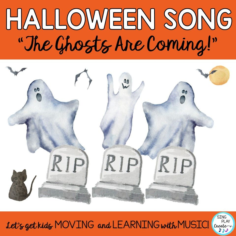 Halloween Music The Ghosts Are Coming Song Activities