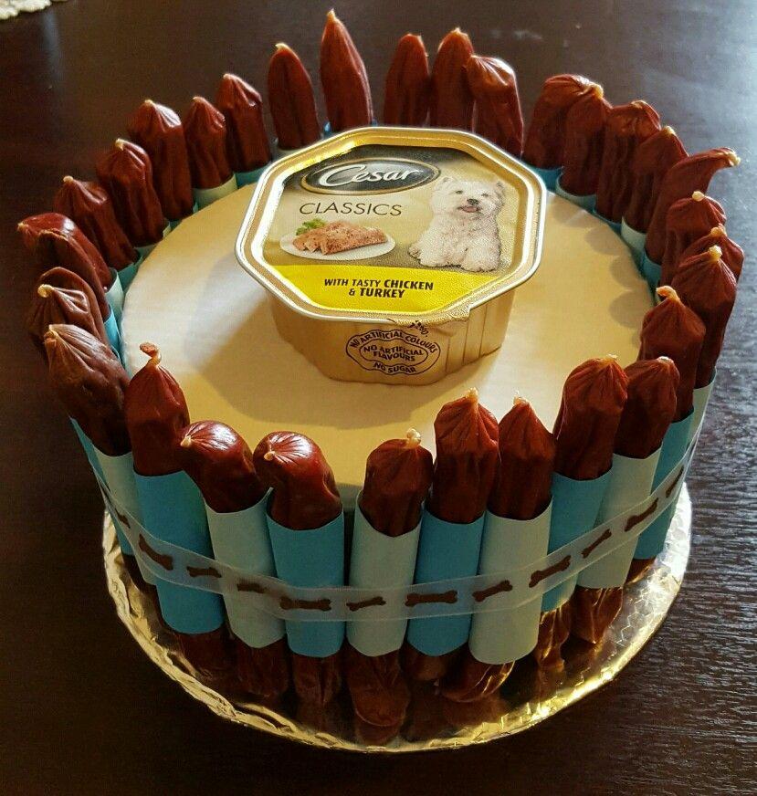 Sausage Birthday Cake For Dogs Birthday My Creations Pinterest