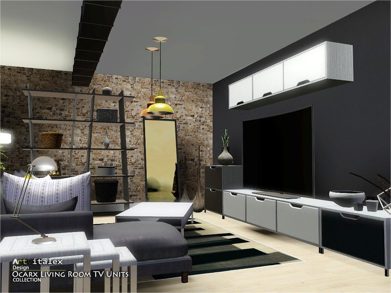 Ocarx Living Room TV Units Found In TSR Category Sims 3 Sets