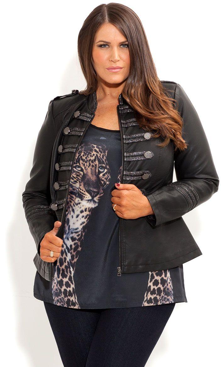 4860959562dd5 City Chic - MILITARY JACKET - Women s plus size fashion