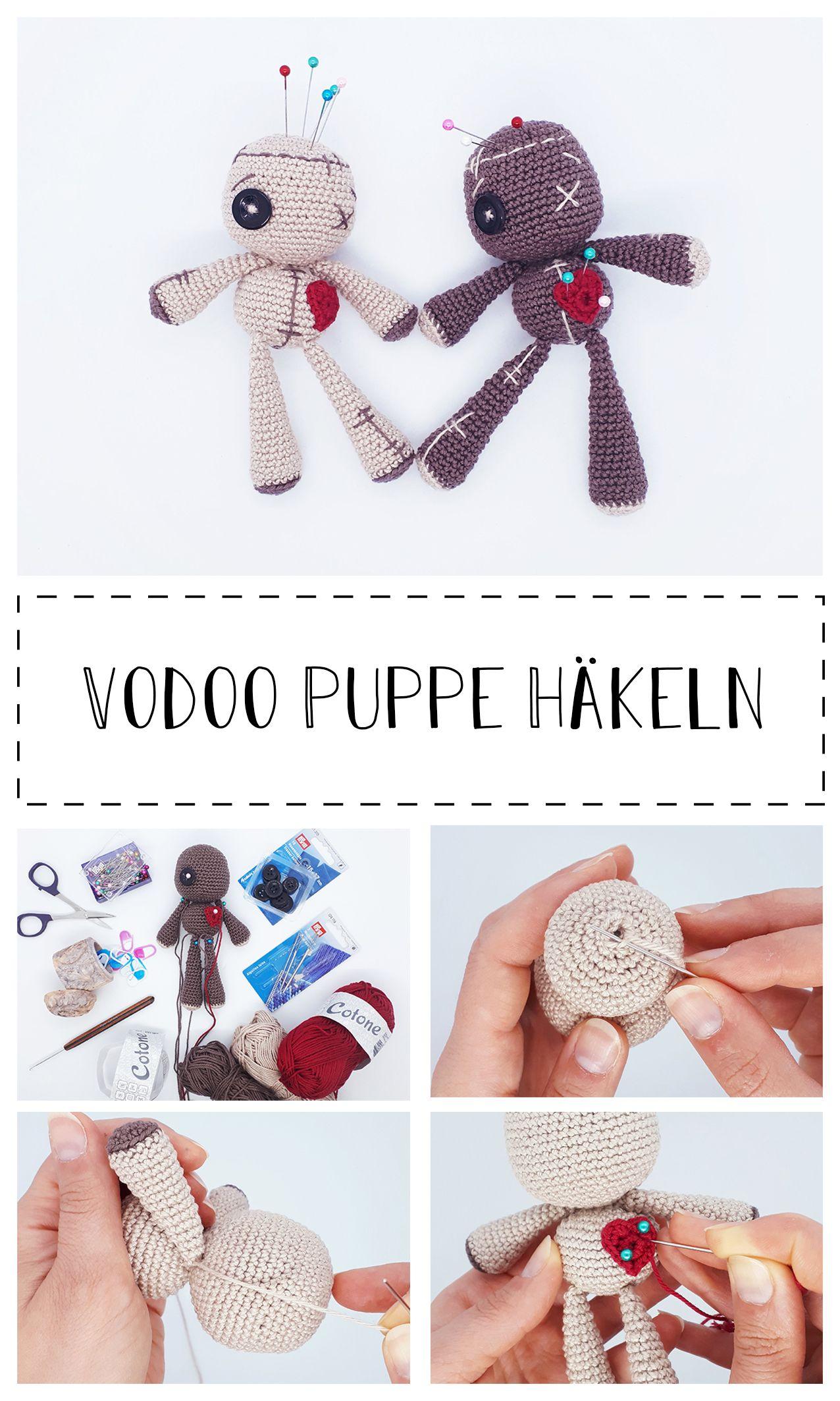 Voodoo Puppe häkeln | Häkeln, Puppe häkeln, Puppen selber