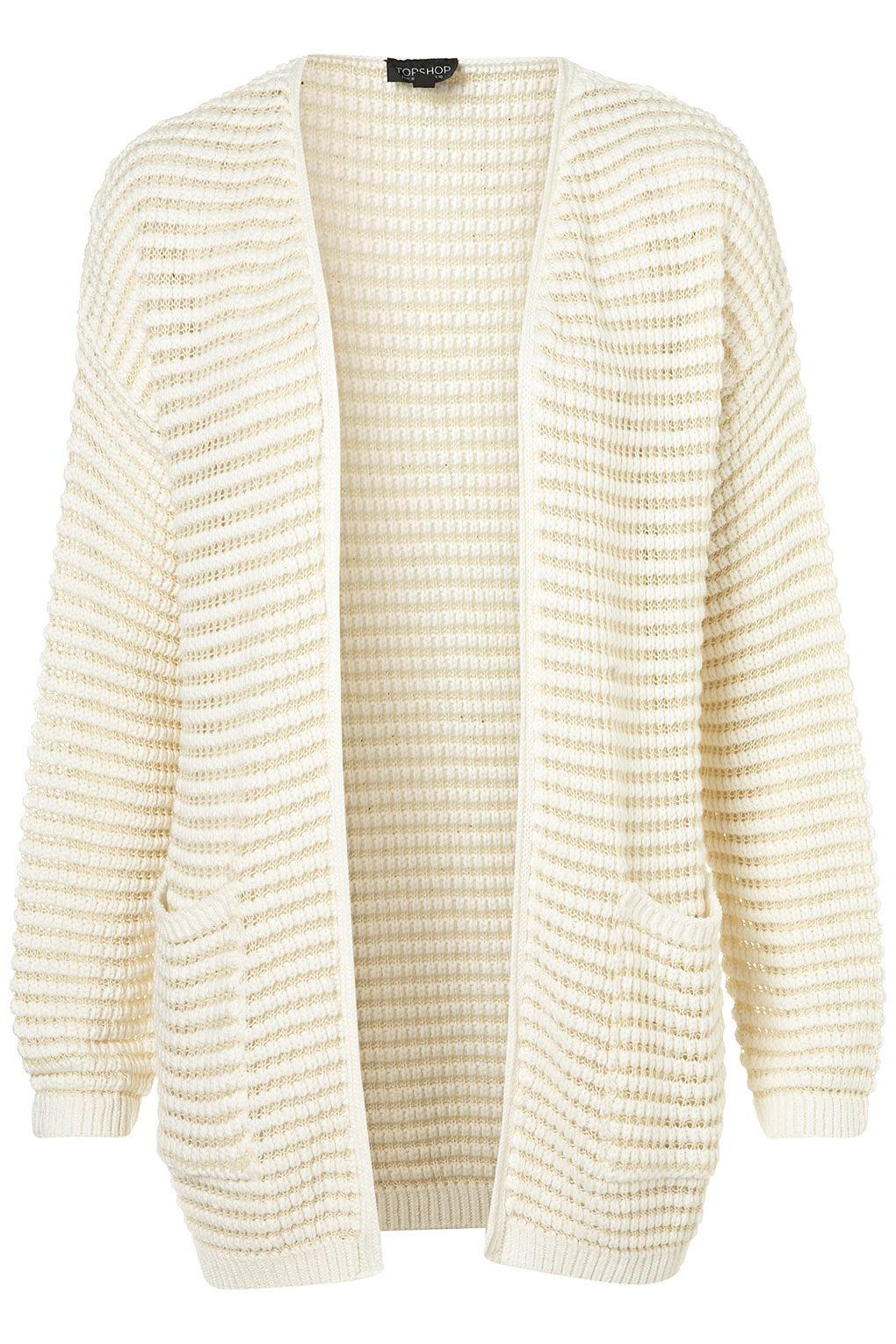 Knitted Plain Grill Cardi
