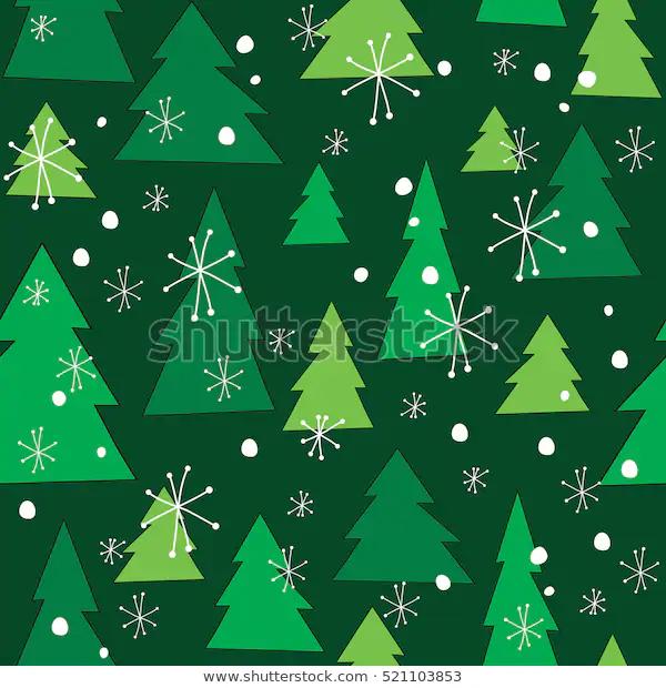 Vector Christmas Tree Seamless Pattern Winter Stock Vector Royalty Free 521103853 Christmas Vectors Seamless Patterns Christmas Design