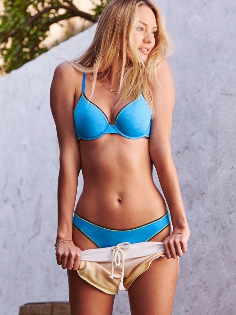 650cb09f1ed Blue skies. This aqua bra and panty duo really know how to set the scene. |  Victoria's Secret The T-Shirt Demi Bra