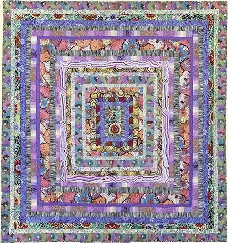 Quilts In Italy Stone Log Cabin Quilt Kit By Kaffe Fassett Kaffe Fassett Quilts Quilt Kits Quilt Patterns