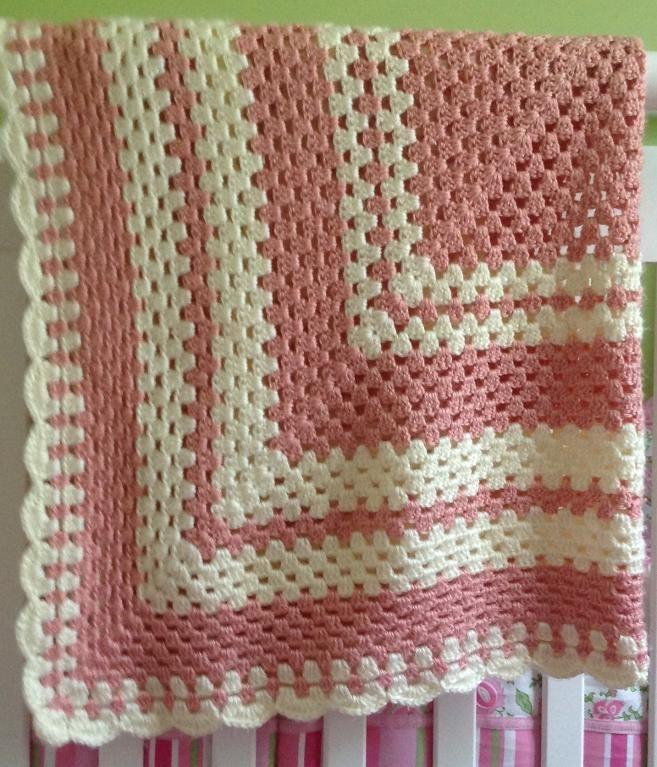 One Big Granny Square Baby Blanket_e_0SdZ - via @Craftsy | Secret ...