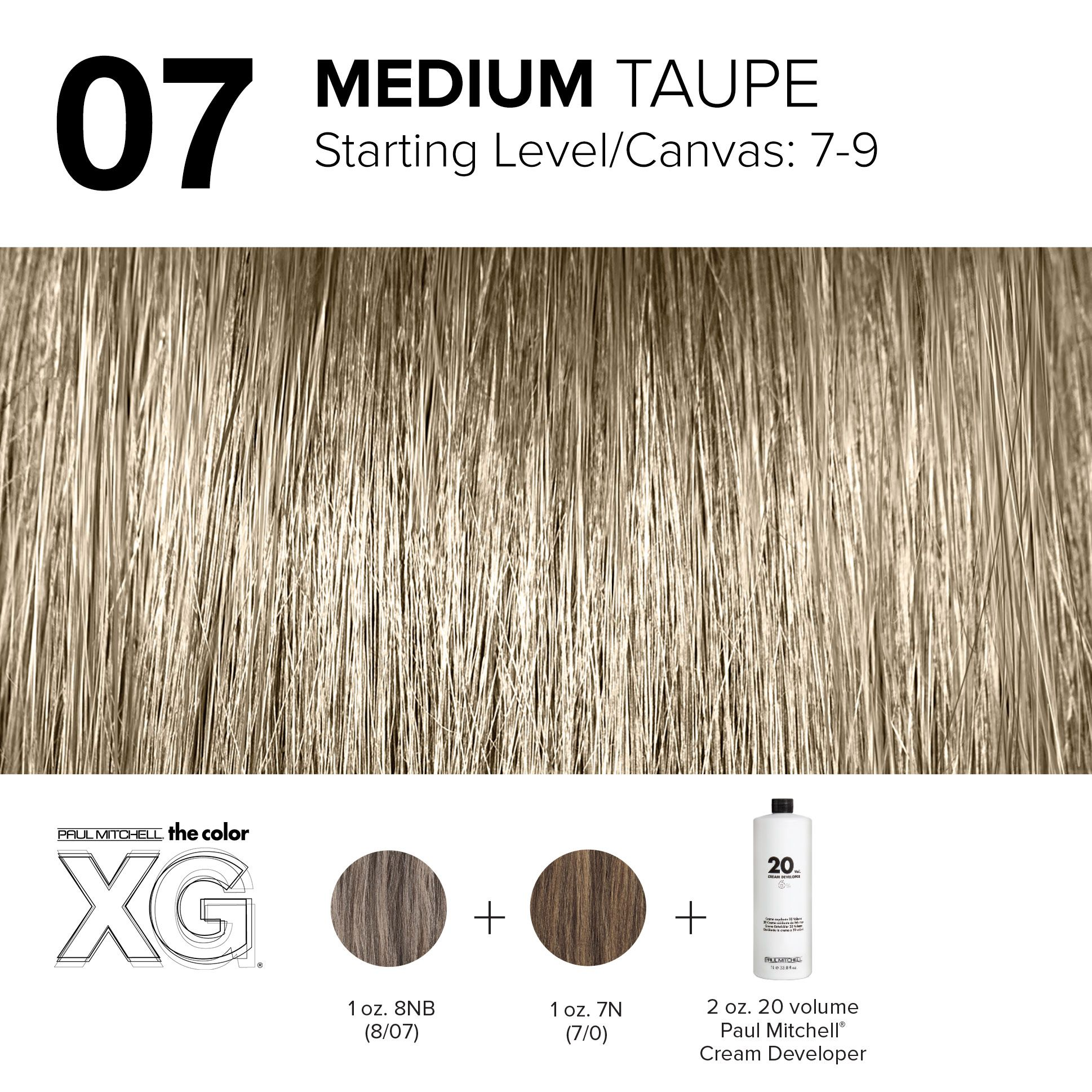 07 Medium Taupe Hair Color Formulas Paul Mitchell Paul Mitchell Color