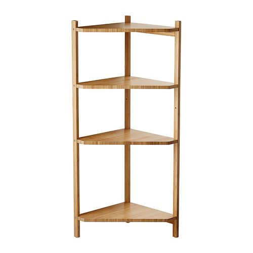 Ragrund Corner Shelf Unit Bamboo 34x99 Cm Ikea Corner Shelf