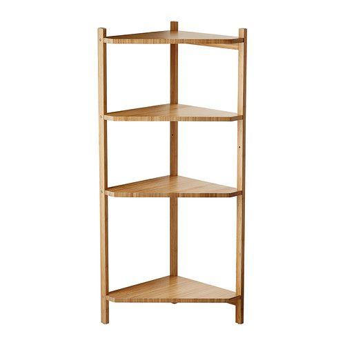 Ragrund Corner Shelf Unit Bamboo 34x99 Cm Ikea Corner Shelf
