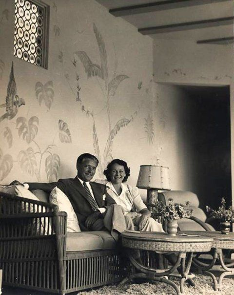 Ronald and Benita Colman at home in the late 1930s.