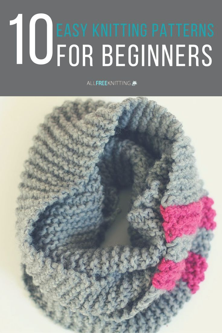 Easy Knitting Patterns for Beginners | Easy knitting, Knitting ...