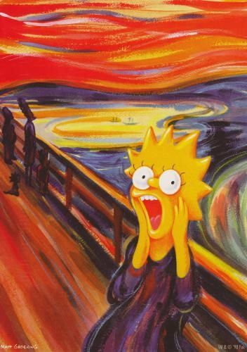 simpsons parody edvard munch the scream all things