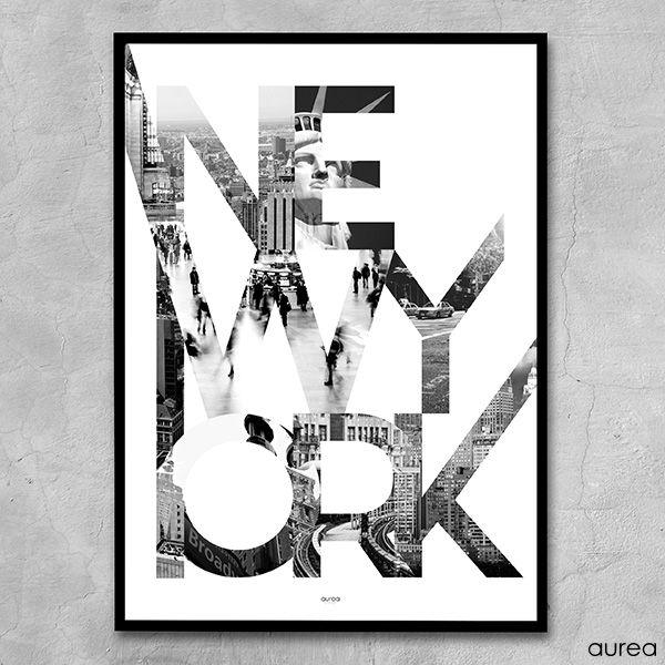 Plakat City New York Plakater Billeder Design