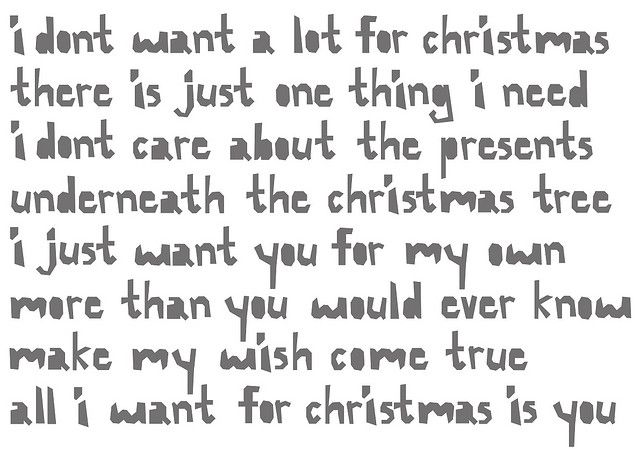 Mariah Carey All I Want For Christmas Is You Lyrics.All I Want For Christmas Is You My Style Favorite
