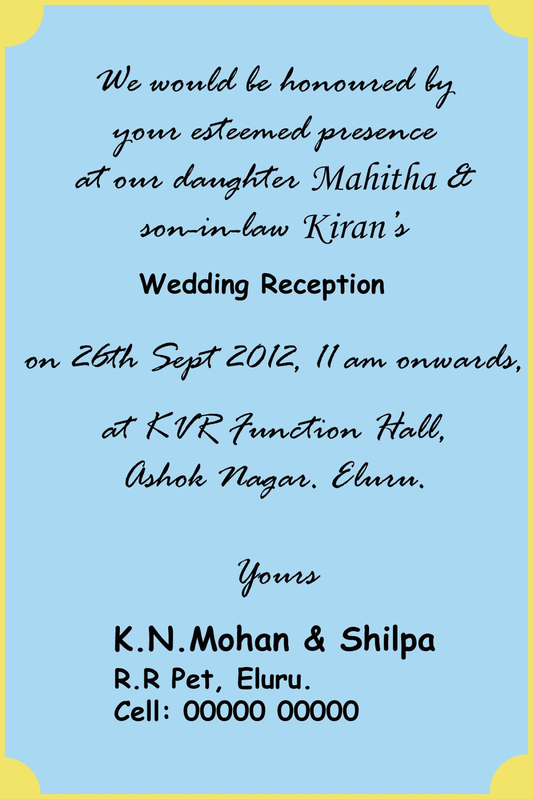10 Format Of Hindu Wedding Invitation Wording In English For Friends And Review Di 2020