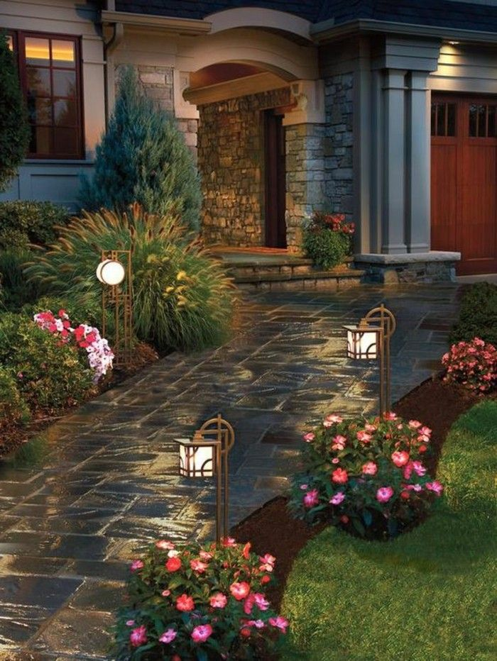 Pin by k michelle montgomery on outdoor spaces pinterest outdoor walkway solar walkway lights front yard landscaping landscaping ideas garden paths front yards lighting design garden design home ideas aloadofball Images