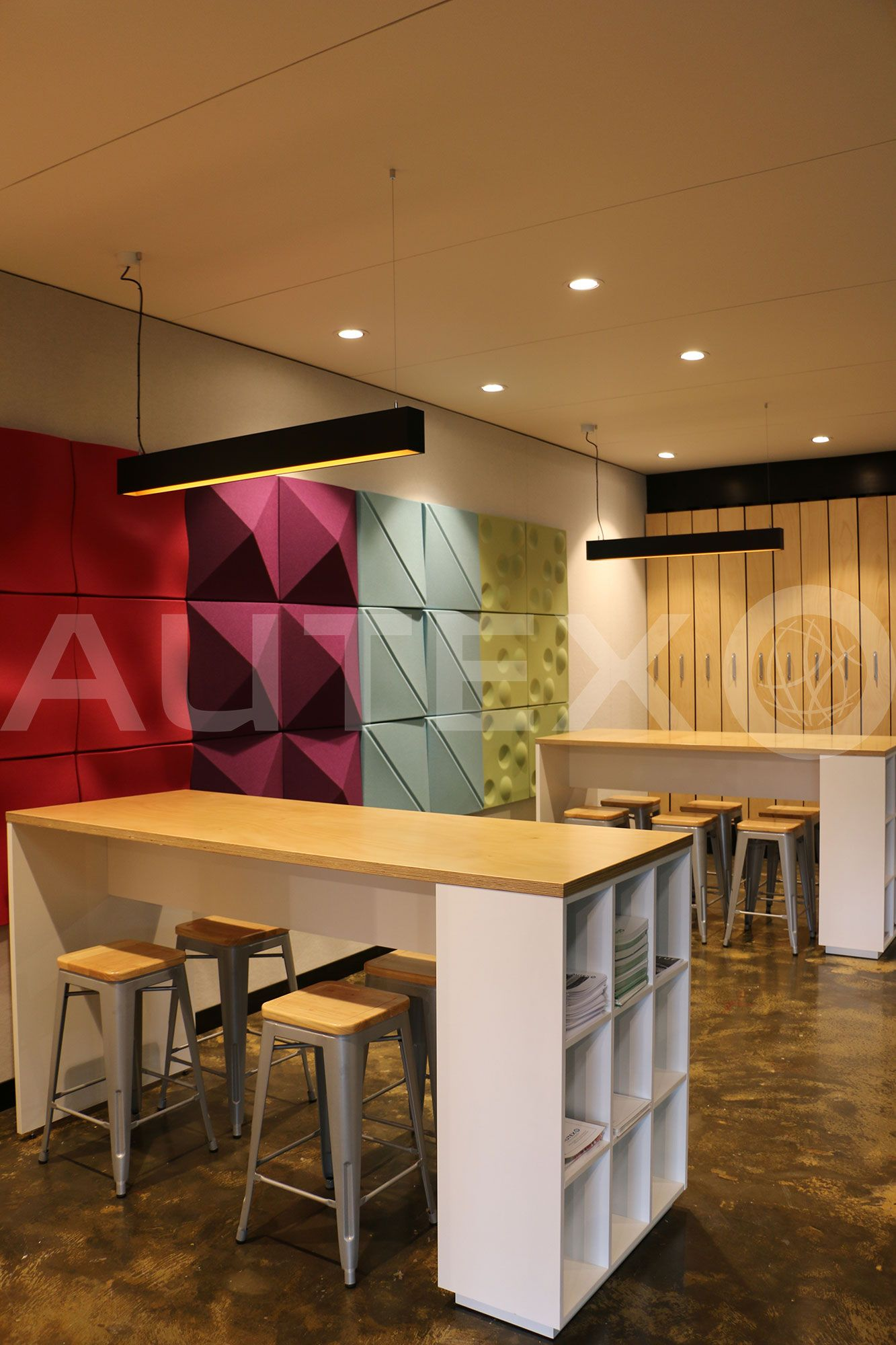 Autex Interior Acoustics Quietspace® 3D Tiles Designs