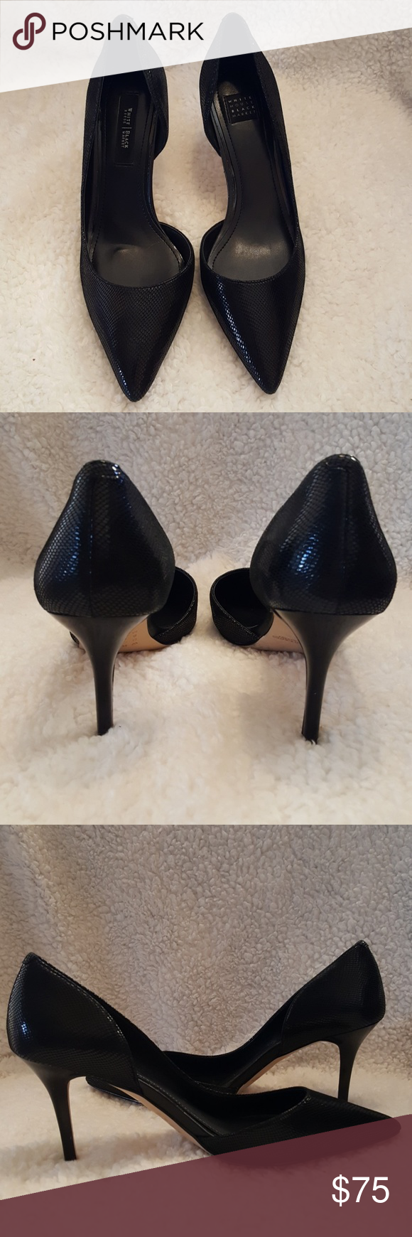 7b100f5cd6 White House Black Market sexy D'Orsay black heels These black Ella D'Orsay