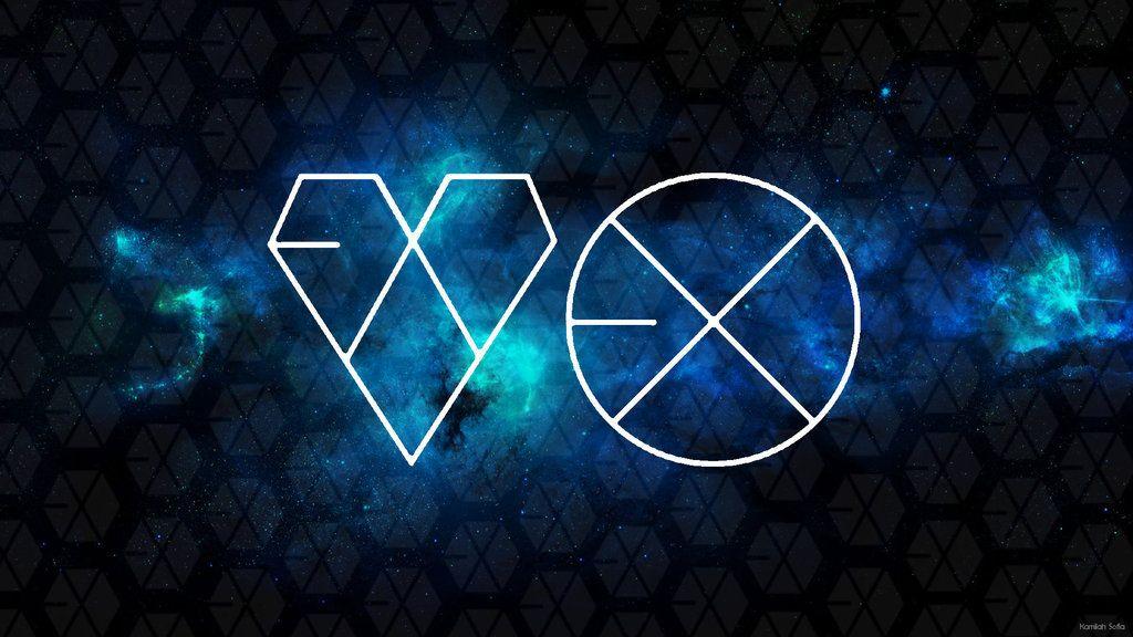 Exo Logos In 2021 Wolf Wallpaper Minimalist Desktop Wallpaper Aesthetic Desktop Wallpaper Cool exo logo wallpaper