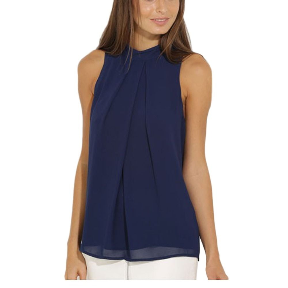23ece640fd391 Hot Sale Women Casual Chiffon Blouse Chic Elegant Lady Shirts Tops ...