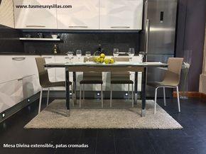 Mesa cocina Moderna Divina con esquinas redondeadas ...