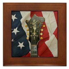 The Gibson Mandolin (Mandola) Head Stock and the American Flag Framed Tile ($9.99)
