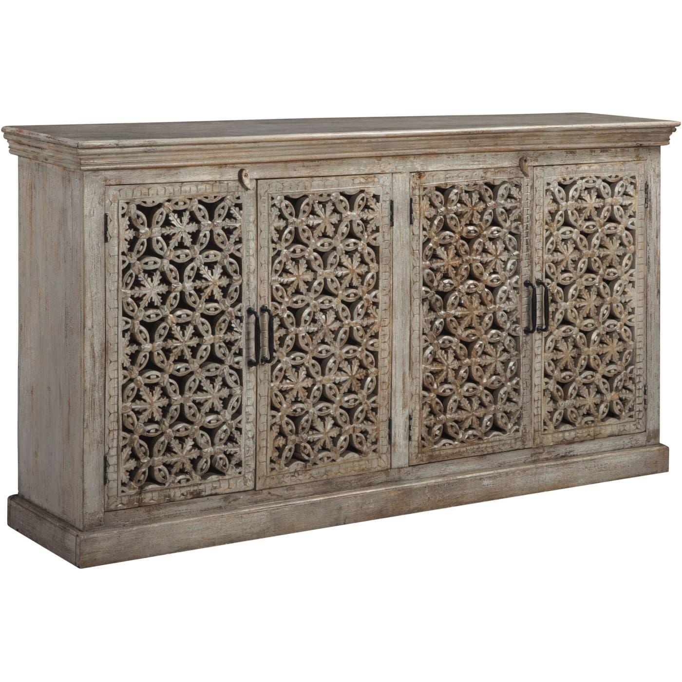 Fossil Ridge Amber Accent Cabinet Signature Design By Ashley Signature Design Ashley Furniture Industries