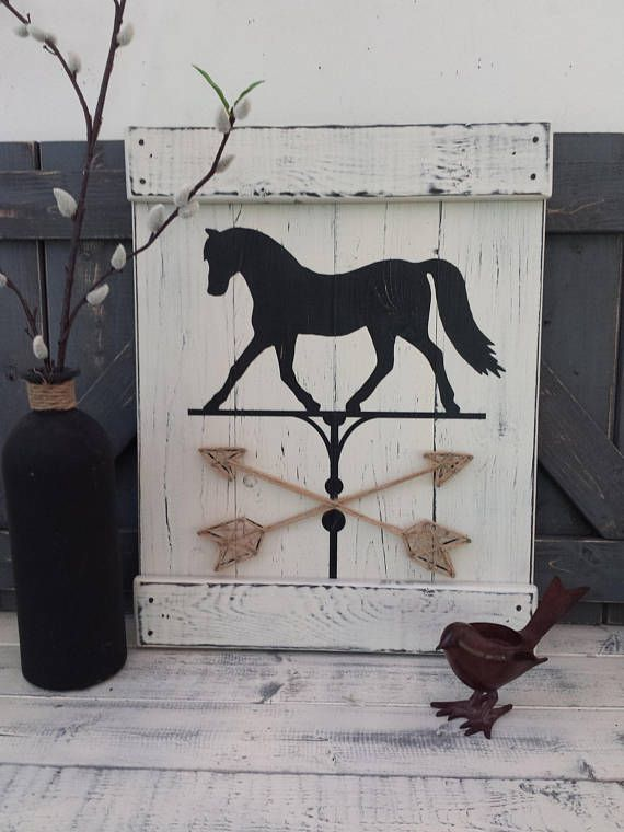 Farmhouse Horse Horse Painting Equestrian Decor