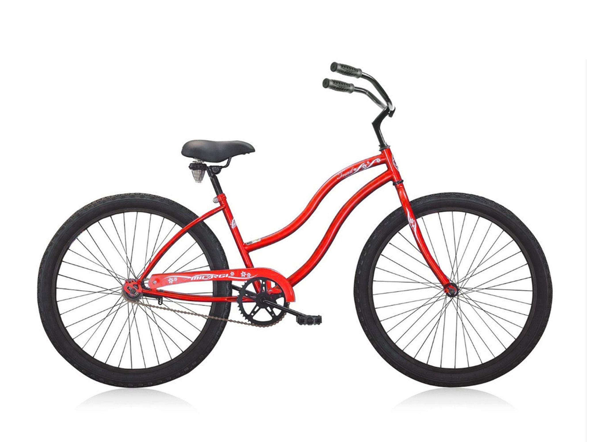 Micargi Touch 26 Beach Cruiser Single Speed Red Womens Beach Cruiser Beach Cruiser Bikes Women Cruiser Bike