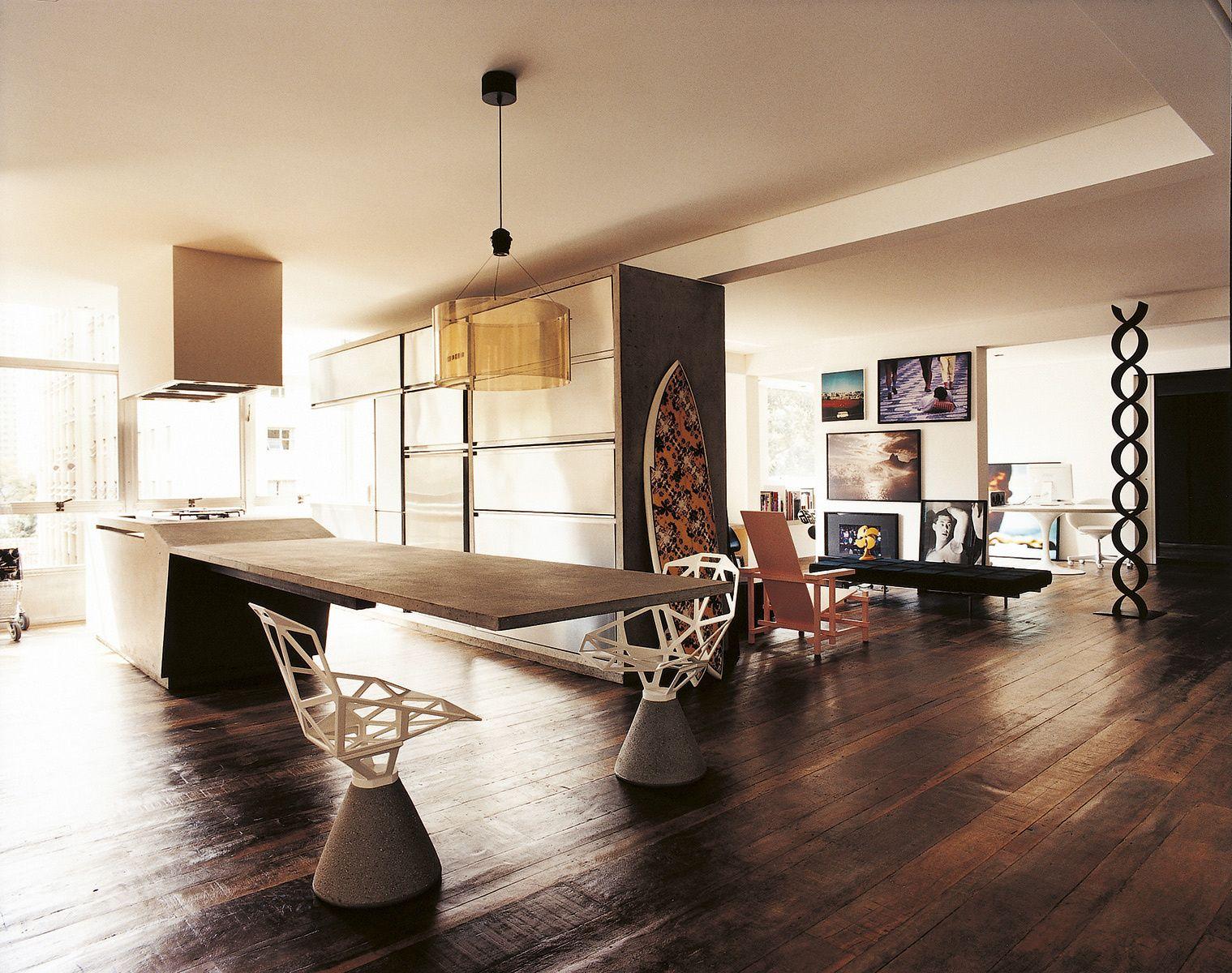 Semi loft elegante espacios abiertos mesa de comedor y for Cocina unida a salon