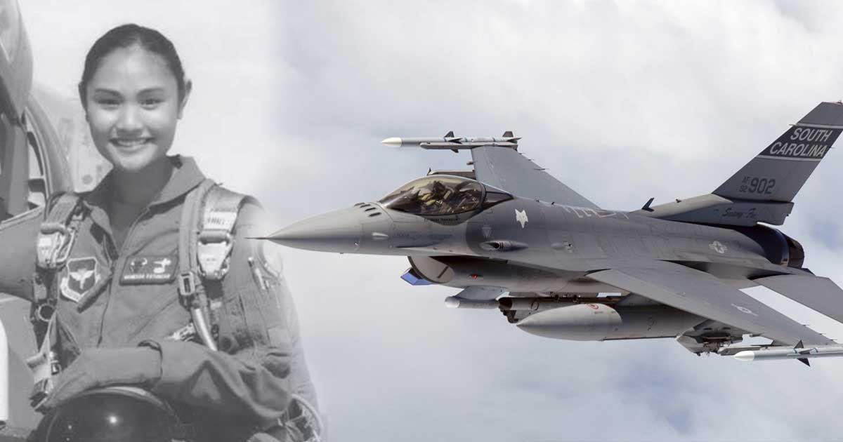 Filipino Proud Us Air Force F 16 Jet Fighter Pilot Is A Filipina Fighter Jets Jet Fighter Pilot Fighter Pilot