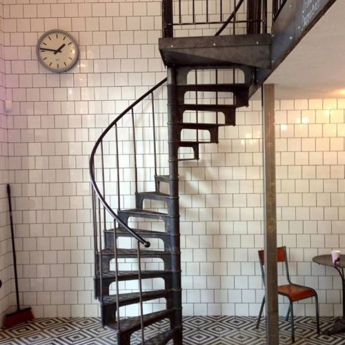Elegant Cast Iron Industrial Spiral Staircase (around 1890) From France