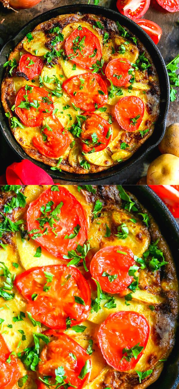 5 Ingredient Spanish Omelette In 2020 Spanish Omelette Recipes Sunday Brunch Food