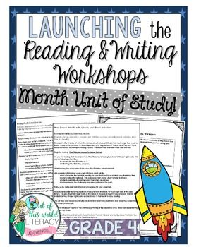 Start the first month of school by setting up the reading and writing workshops with these 40 lessons, all linked to grade 4 Common Core Standards! ($)