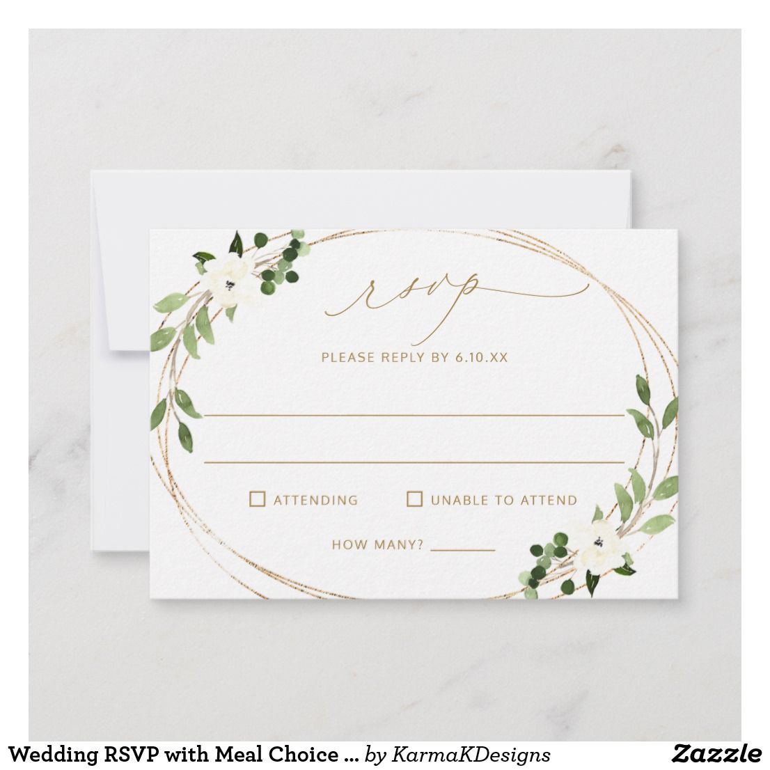 Wedding Rsvp With Meal Choice Favorite Song Back Zazzle Com Wedding Rsvp Rsvp Wedding Cards Wedding Reception Cards