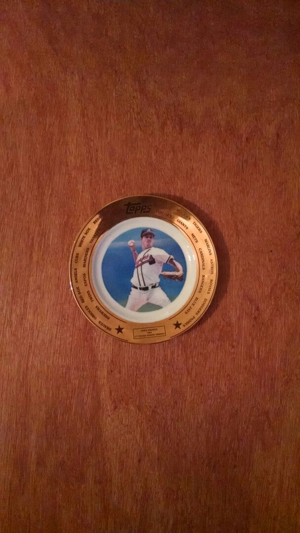 Greg Maddux Tops Collector Plate 1994