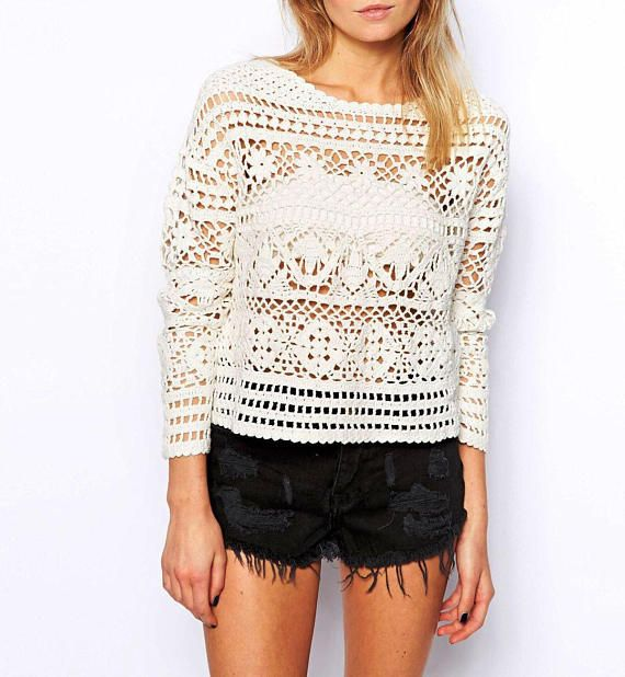 Crochet sweater PATTERN for sizes S-3XL, detailed tutorial in ...